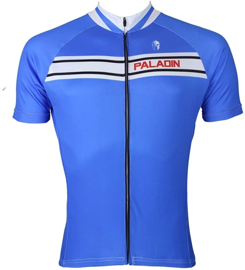 Paladinsport Men's Blue Polyester Breathable Short Sleeve Cycling Clothing Size S