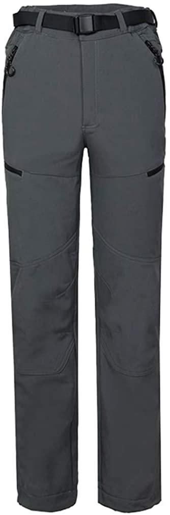 mansmoer Men's Outdoor Fleece Softshell Windproof Trousers Hiking Camping Pants