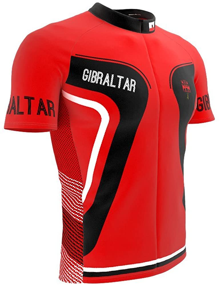 ScudoPro Gibraltar Full Zipper Bike Short Sleeve Cycling Jersey for Men