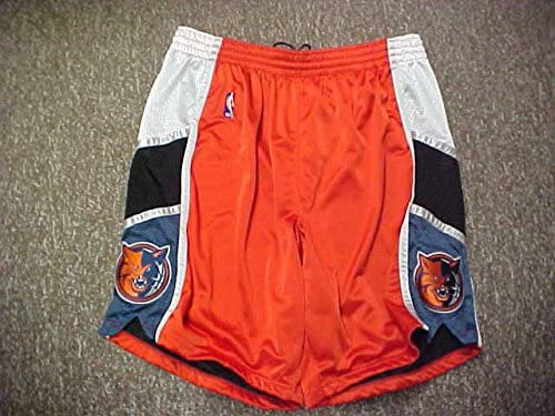Shannon Brown Charlotte Bobcats Orange Game Worn Shorts