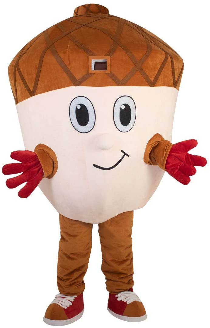 Acorn Hazelnut, Filbert, Hazel Wood Cartoon Costume Mascot Plush with Mask for Adult Cosplay Party Halloween Dress Up