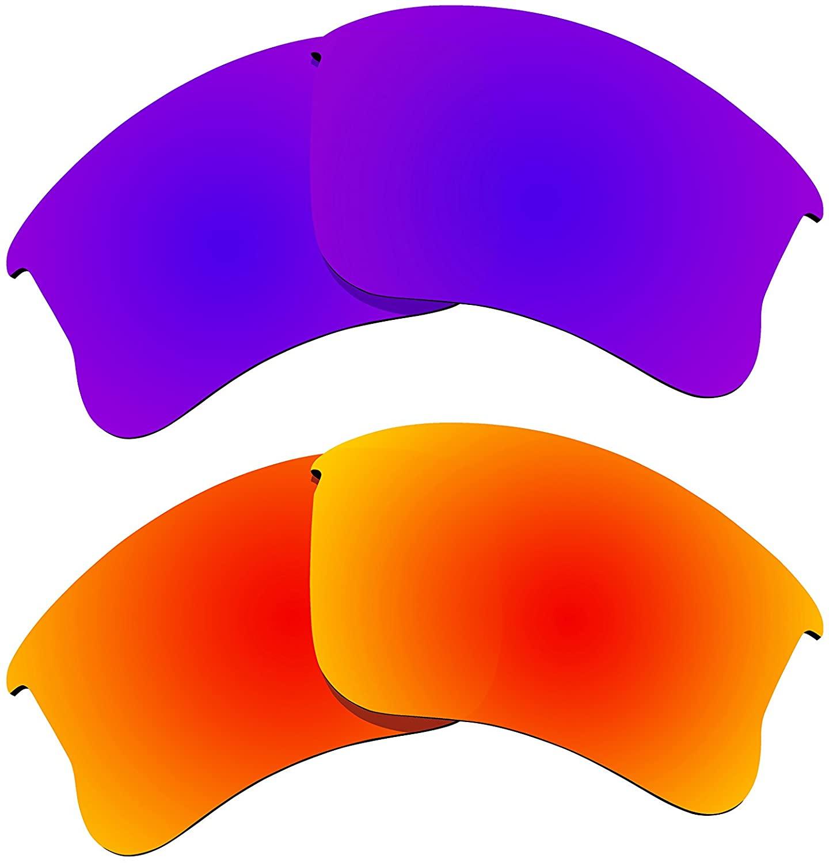 BVANQ 2 Pairs Polarized Lenses Replacement for Oakley Flak Jacket XLJ Sunglasses A4