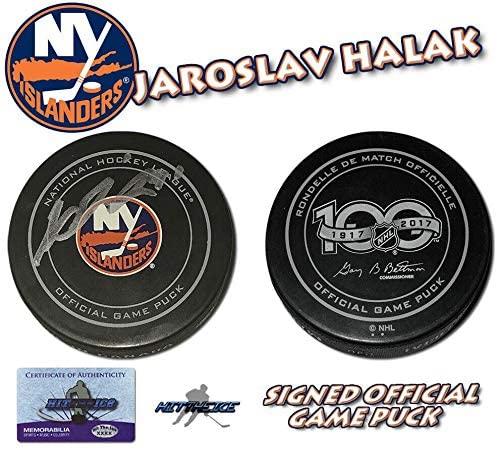 Jaroslav Halak Autographed Hockey Puck - Official w COA - Autographed NHL Pucks