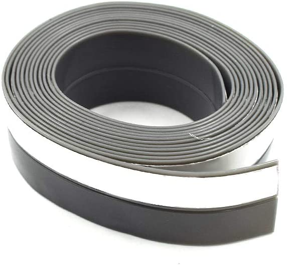 HONJIE 1 Inch(25mm) Width 2M Long Self Adhesive Long Weather Stripping Frameless Door Bottom Seal for Doors and Windows(Gray) -1 PC