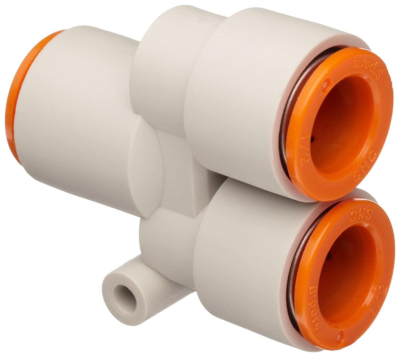 SMC KQ2U07-00A PBT Push-to-Connect Tube Fitting, Union Wye, 1/4