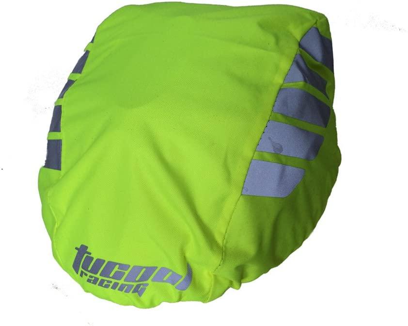 Tucool Racing Night Visual Waterproof Dustproof Windproof Bike Bicycle Cycling Helmet Cover Rain Cover (Fluorescent Green)