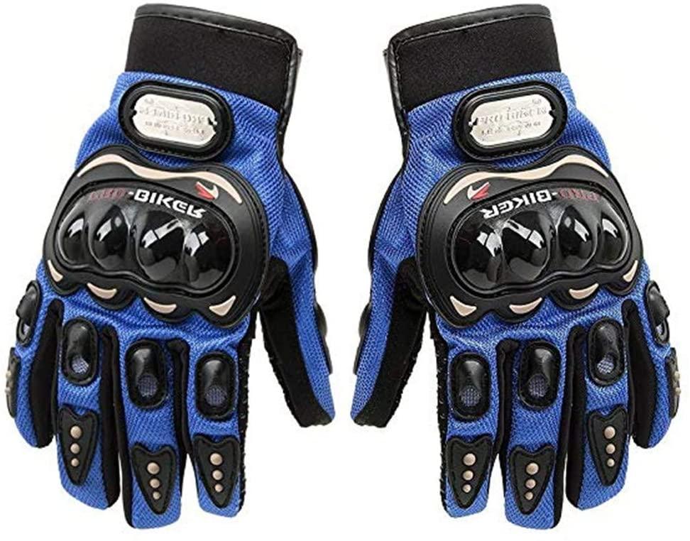 JSP Pro-Biker Motorbike Protector Gloves- Full-Half Finger Carbon Fiber Cycling Powersports Racing Gloves