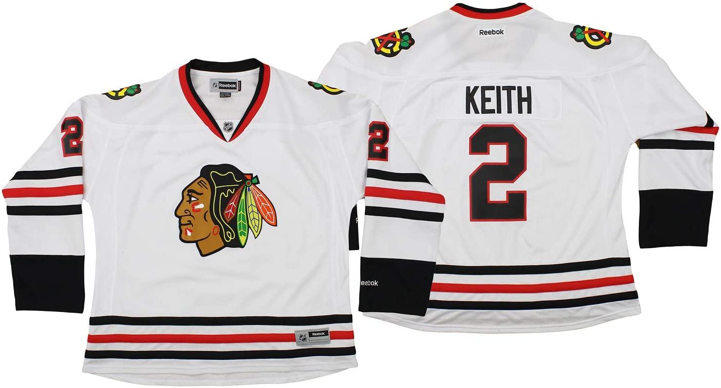 Reebok NHL Womens Chicago Blackhawks Duncan Keith #2 Jersey, White