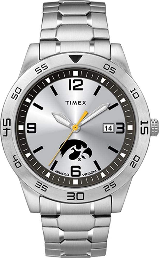 Timex Men's University of Iowa Hawkeyes Watch Citation Steel Watch