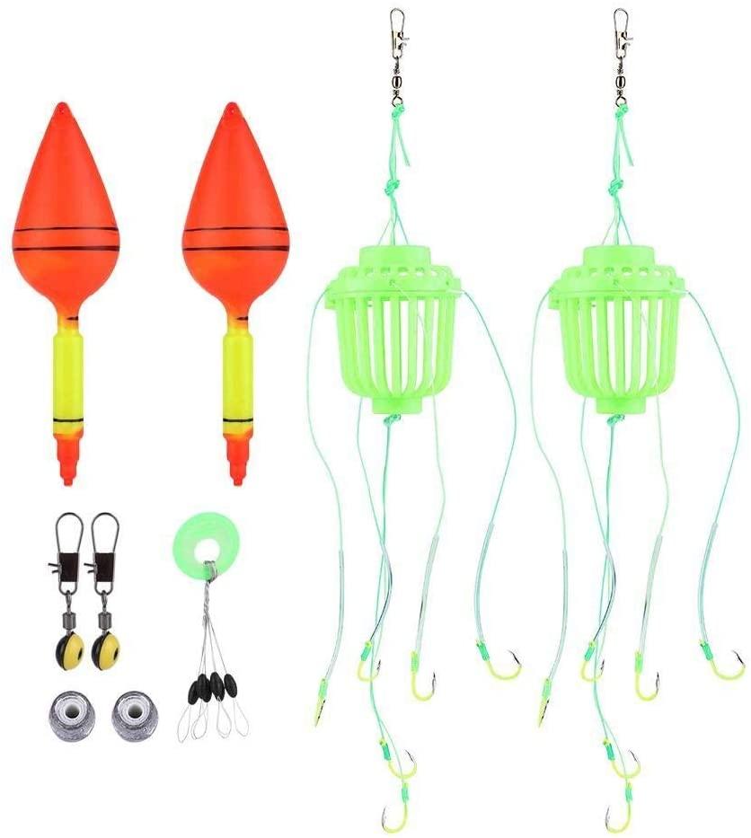 KSTE Fluorescent Explosion Hook Cage Glow Fishhooks for Baitcasting Carp Fishing Accessory