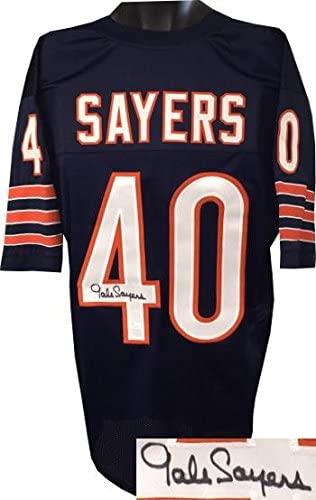 Gale Sayers Autographed Jersey - Navy TB Custom Stitched Pro Style XL Hologram - JSA Certified - Autographed NFL Jerseys
