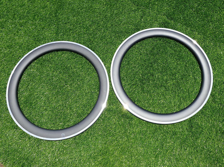Width 23mm Wide U Shape 60mm Cycling Wheel Rims UD Carbon Glossy Bike Clincher Rim 700C Carbon Road Bicycle Rims 60mm (20, 24 Holes) Alloy Brake Side