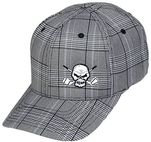 TattooGolf Plaid Skull Hat