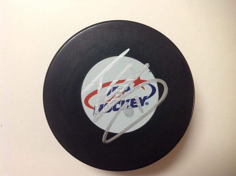 Troy Terry Autographed Hockey Puck - Team USA U.S.A Go b - Autographed NHL Pucks