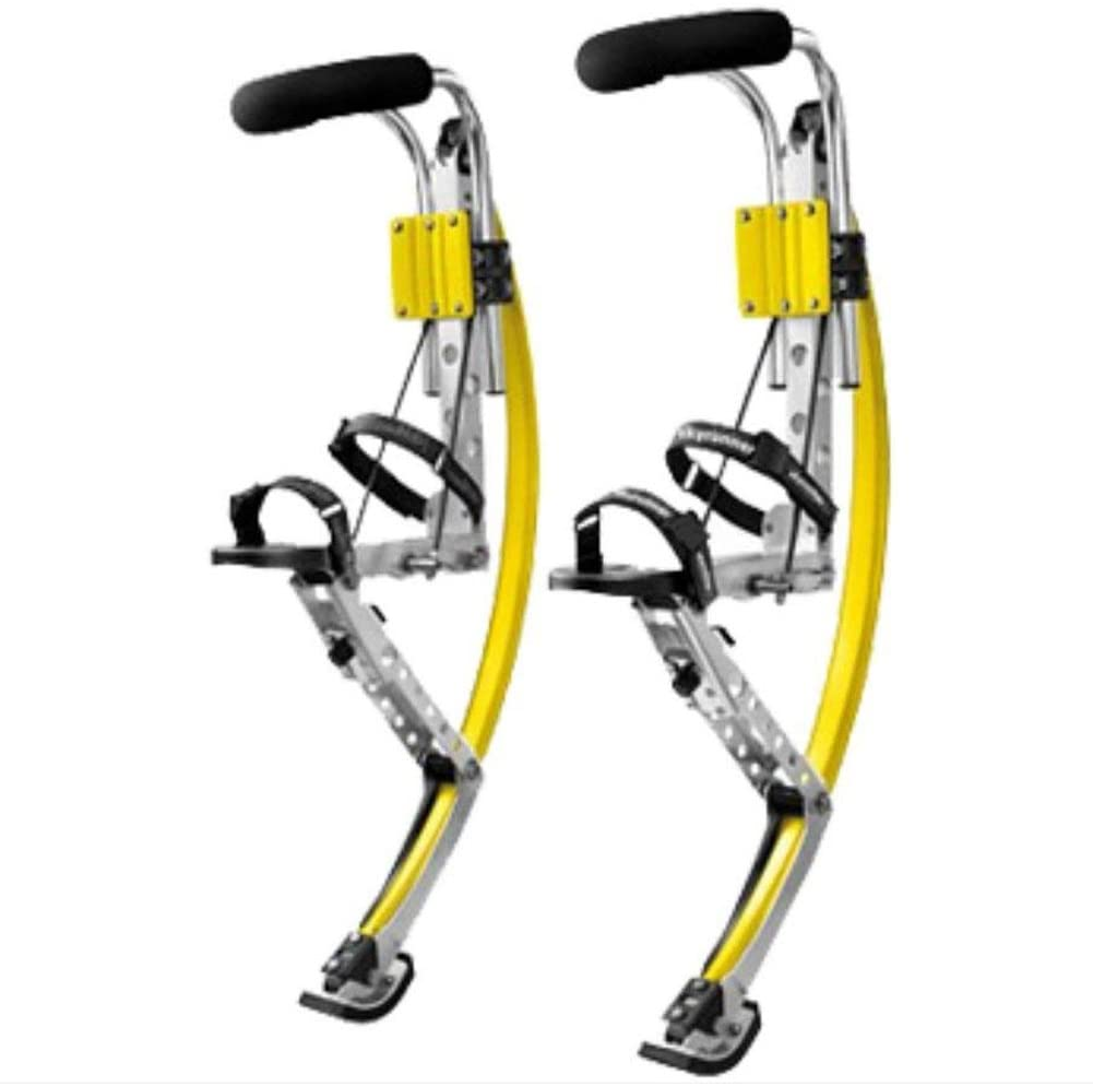Adult Kangaroo Shoes Jumping Stilts Men Women for Flips, Tricks, Exercise, Fitness, Cardio,Bouncing Shoes,Yellow,90~110Kg