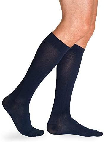SIGVARIS Men's Essential Cotton 230 Closed Toe Calf-High Socks 30-40mmHg