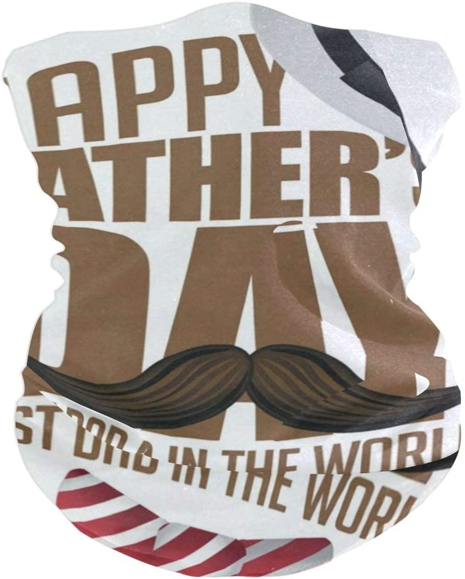 Cute Happy Fathers Day Balaclava Womens Headband Scarf Mens Bandana,Muffler,Neck Gaiter,Magic,Headwrap Helmet Liner