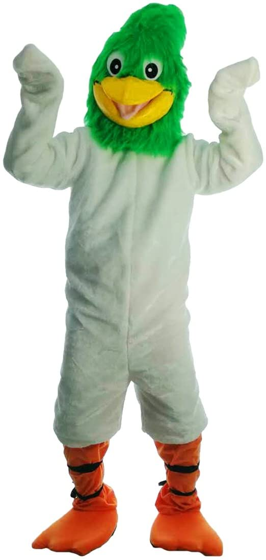 Langteng White Geococcyx Cartoon Mascot Costume Real Picture 15-20days delivery