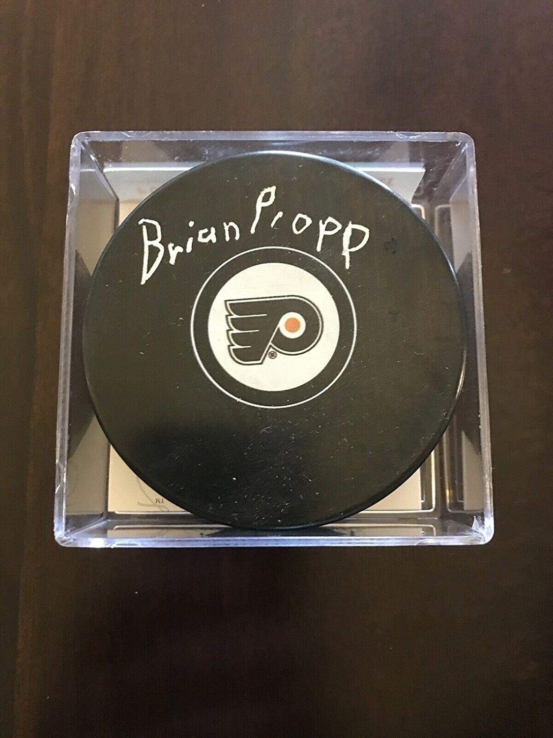 Brian Propp Signed Hockey Puck - JSA Certified - Autographed NHL Pucks