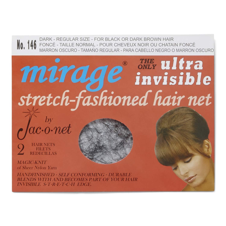 Jac-O-Net Mirage Ultra Invisible Dark Hair Net Dark