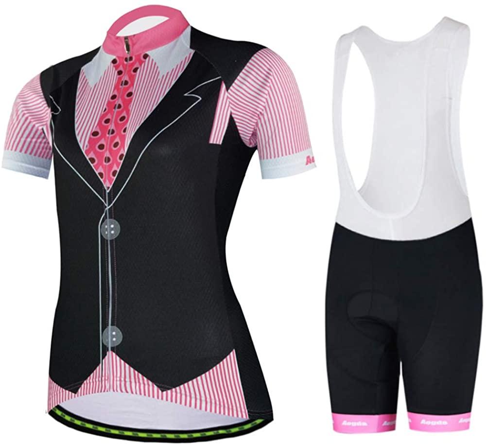 Cycling Jersey Women Aogda Bike Shirts Team Biking Clothing Bicycle Set