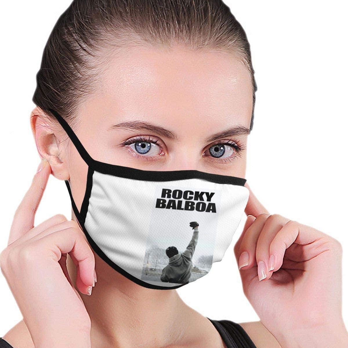 Nsafinhwv Rocky Balboa Face Breathable Comfy Mouth Unisex Half Face Comfortable Reusable for Men Women