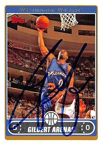Gilbert Arenas autographed Basketball Card (Washington Wizards) 2006 Topps #150 - Unsigned Basketball Cards