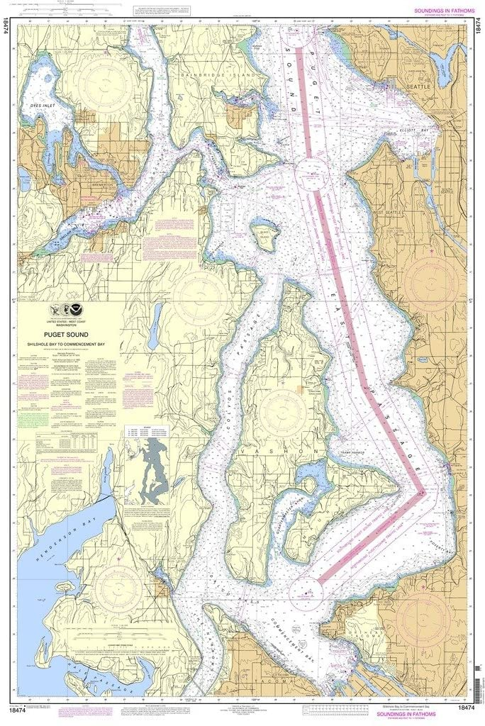 NOAA Chart 18474: Puget Sound-Shilshold Bay to Commencement Bay