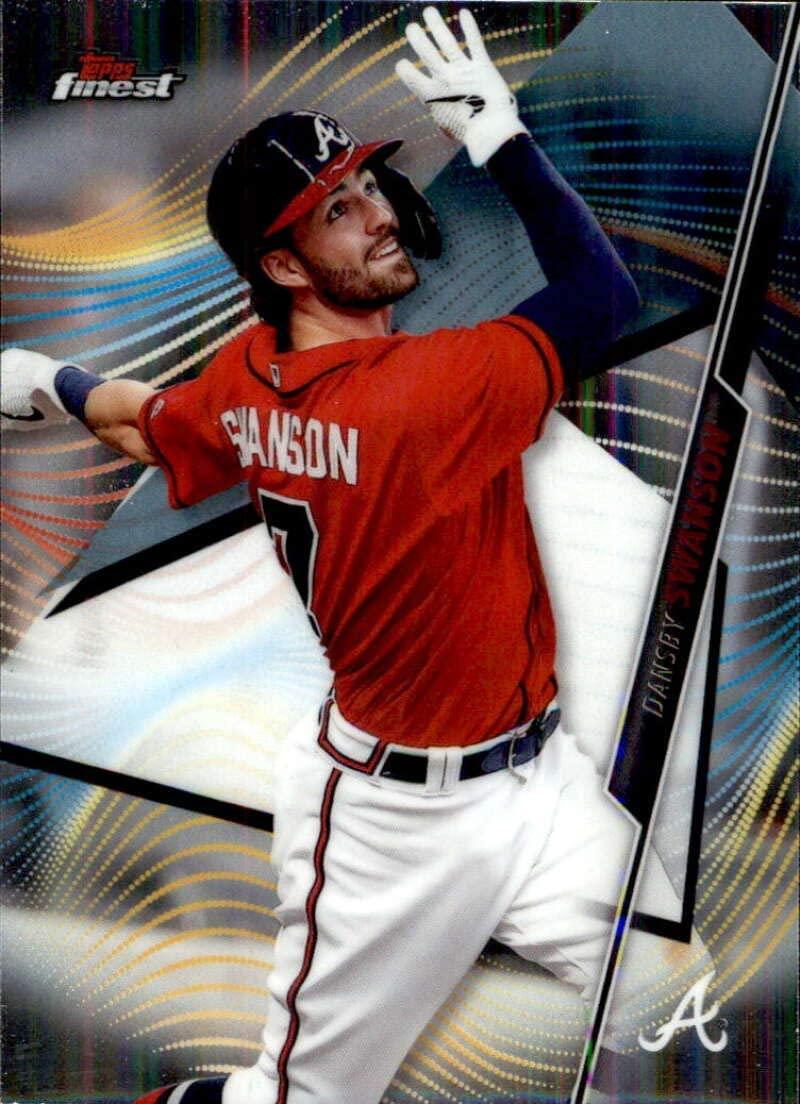 2020 Topps Finest #60 Dansby Swanson Atlanta Braves Baseball Card