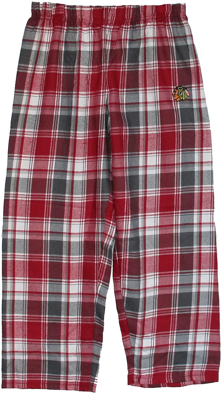 Chicago Blackhawks Youth X-Large Flannel Plaid Pajamas Sleep Pants - Sleepwear