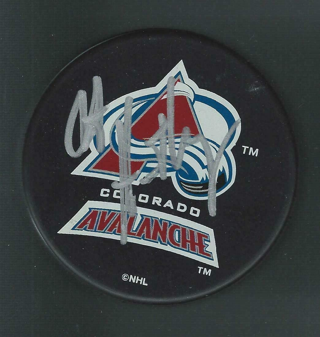 Bob Hartley Signed Colorado Avalanche Souvenir Puck - Autographed NHL Pucks