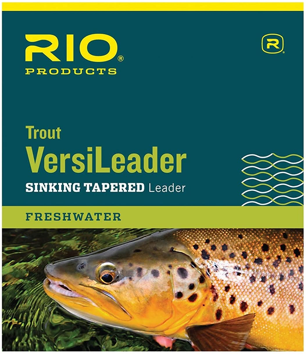 RIO Fly Fishing Trout 12' Sinking 3Ips Fishing Tackle, Clear