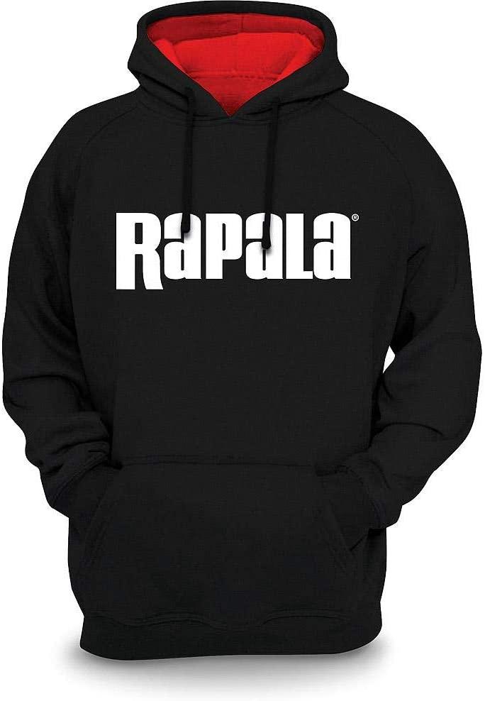 Rapala Sweatshirt Black Red Hood Small
