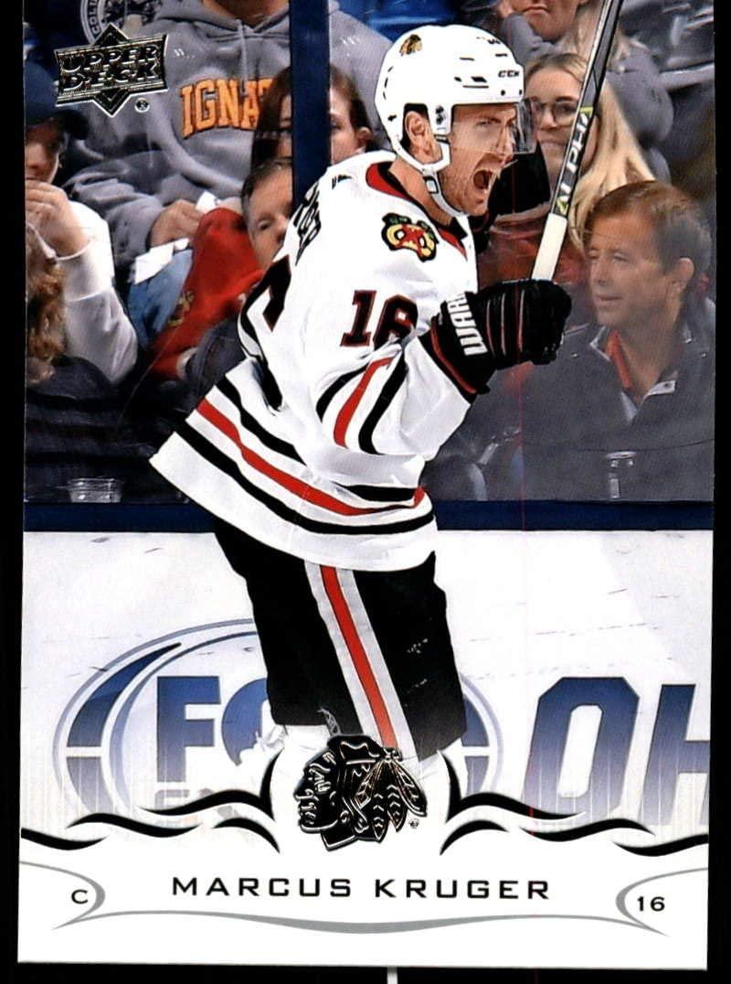 2018-19 Upper Deck #291 Marcus Kruger NM-MT Chicago Blackhawks Official NHL Hockey Trading Card