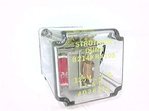 STRUTHERS DUNN RELAYS B214XBX105 Relay, 125VDC, 8 PIN OCTAL, L&N