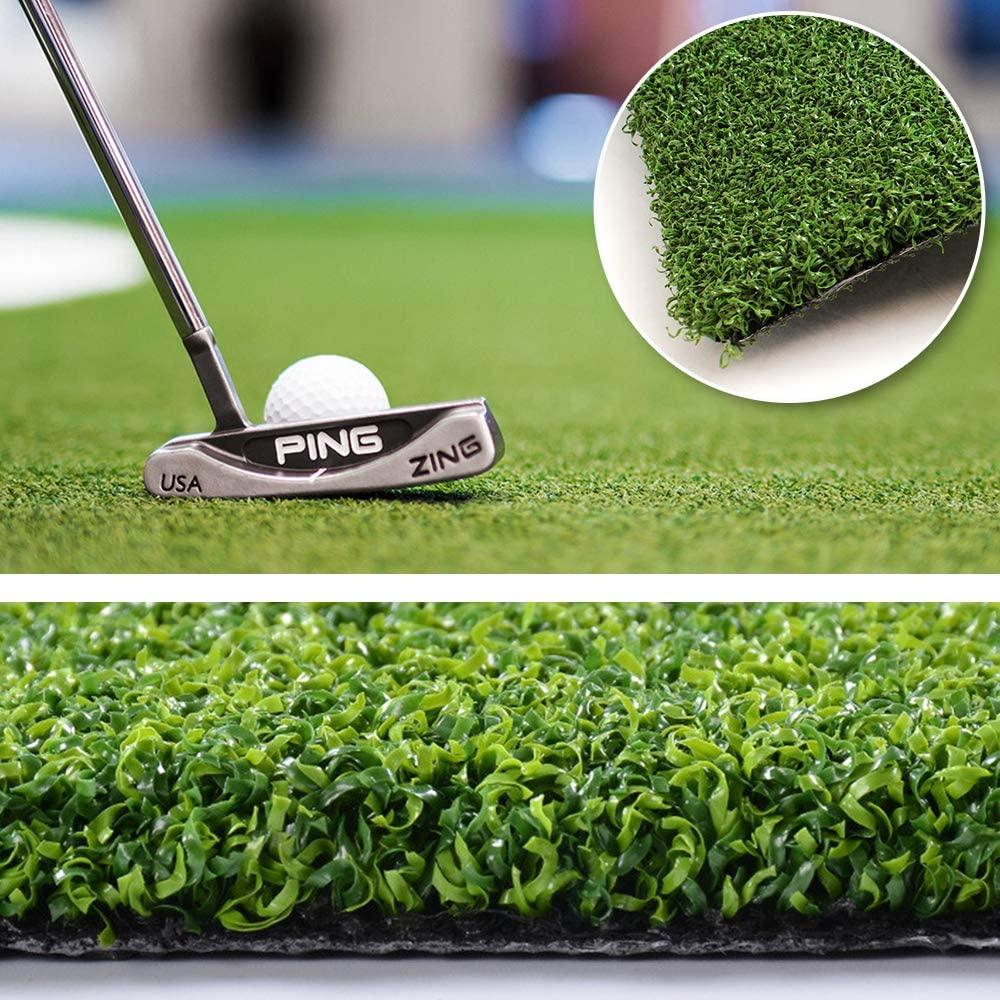 WarmShe Golf Putting Green/Mat-Golf Training Mat Backyard Golf Artificial Grass Turf Indoor Outdoor Golf Training Mat, Synthetic Fake Grass for Baseball Football Gym Sports