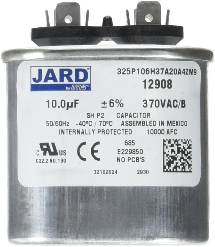 MARS - Motors & Armatures 12908 370V - Oval - 10 Micro-Farads Motor Run Capacitor