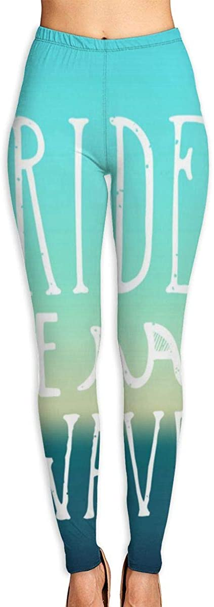 Girl Yoga Pants Leggings Ride Wave Running Workout Over The Heel Long Trousers Sports Gym