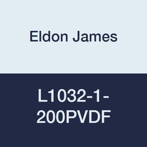 Eldon James L1032-1-200PVDF Gray Kynar Threaded Elbow, 10-32 UNF Thread to 1/16