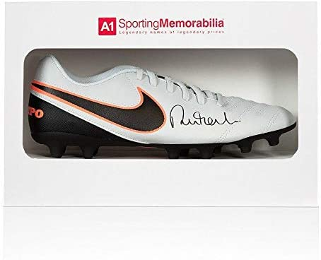 Robbie Fowler Signed Football Boot - Nike Tiempo - Gift Box Autograph Cleat - Autographed Soccer Cleats