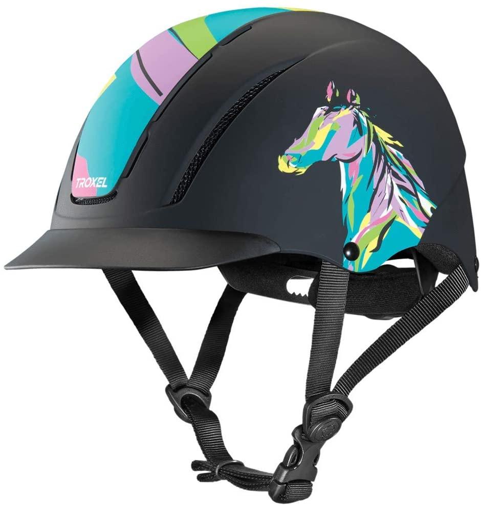 Troxel Helmet Pop Art Pony Spirit Riding Helmet Horse Safety Low Profile Equine