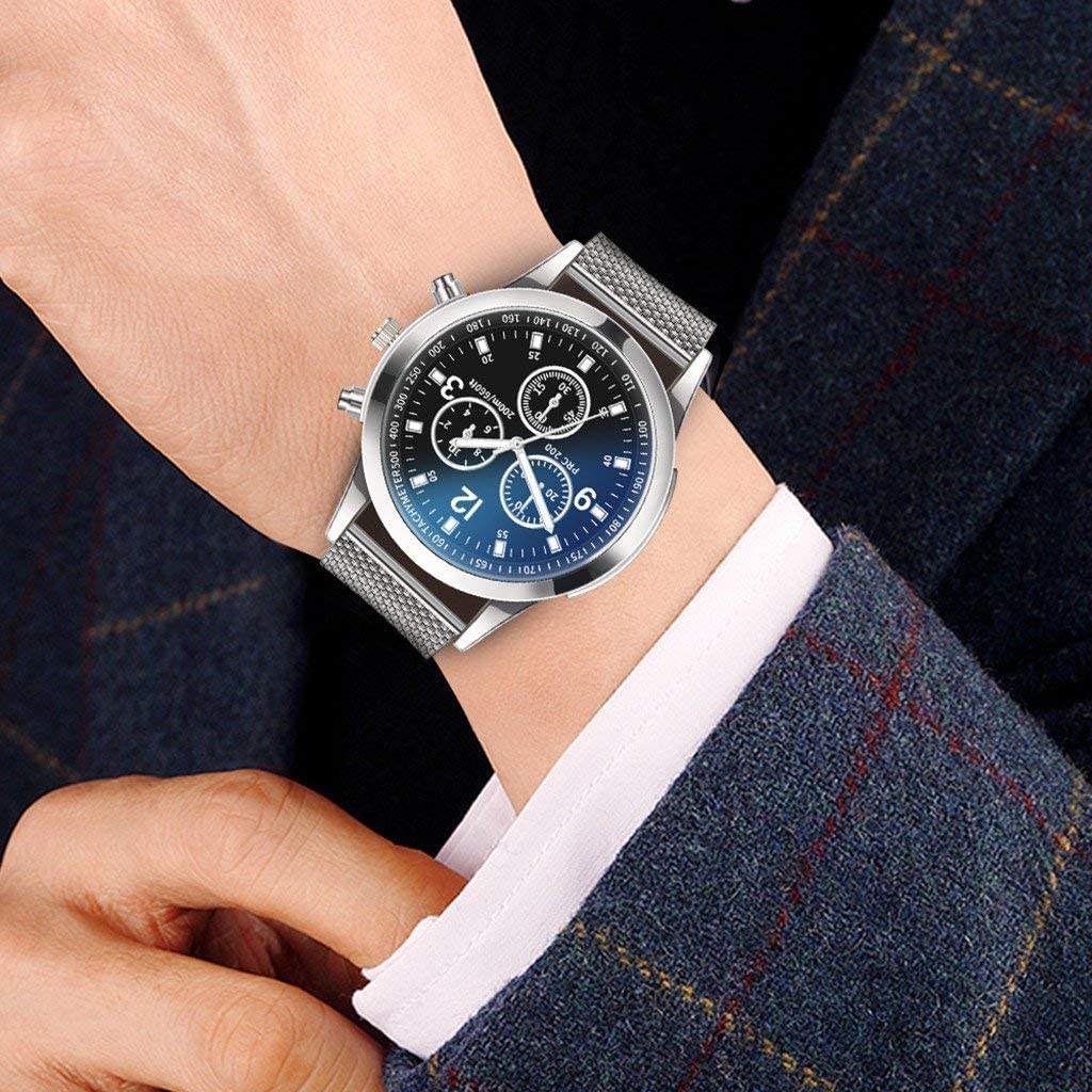 Trending Travis Men Fashion Classic Stainless Steel Watch Wristwatches