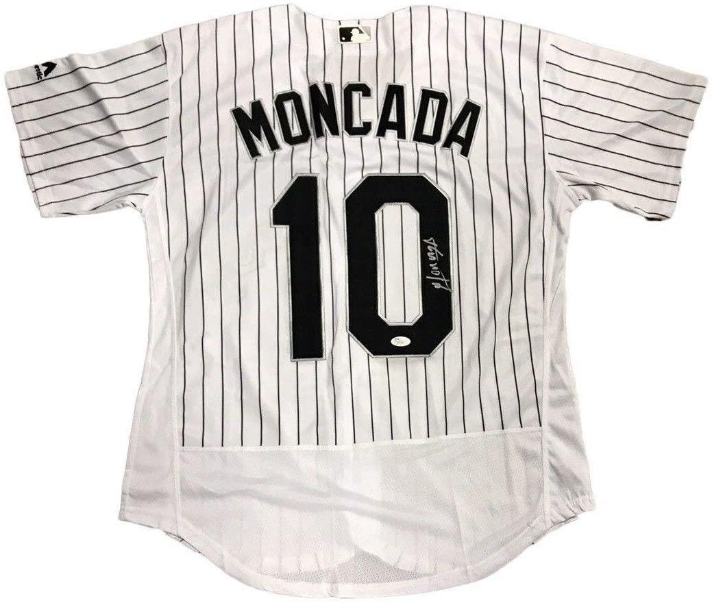 Signed Yoan Moncada Jersey - Home - JSA Certified - Autographed MLB Jerseys