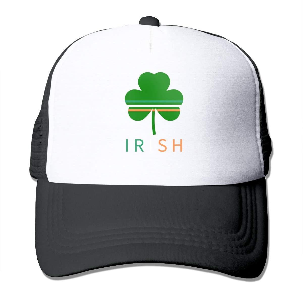 Adult Trucker Hat Irish Clover Custom Mesh Caps