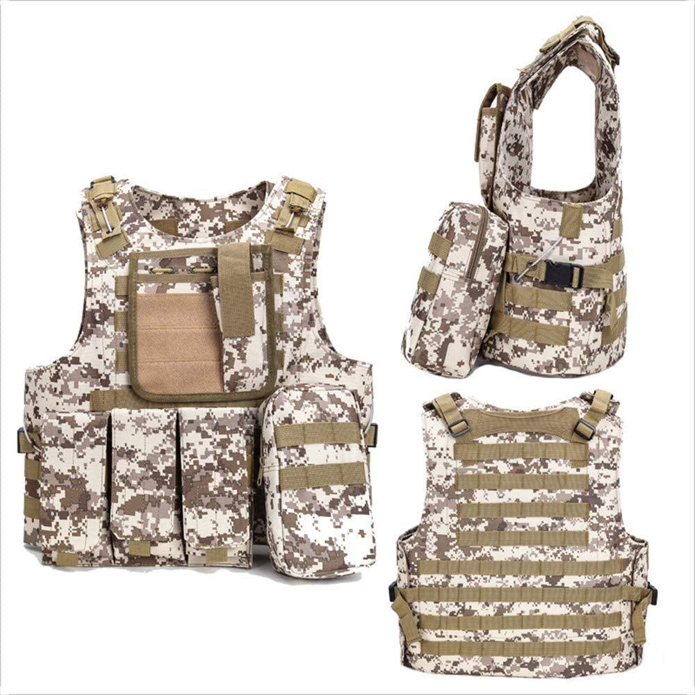 NOBUNO Tactical Vest, Outdoor Multi-Functional Amphibious Tactical Vest Combat Uniform Military Fan Sports Vest Assault Field Survival Equipment,5