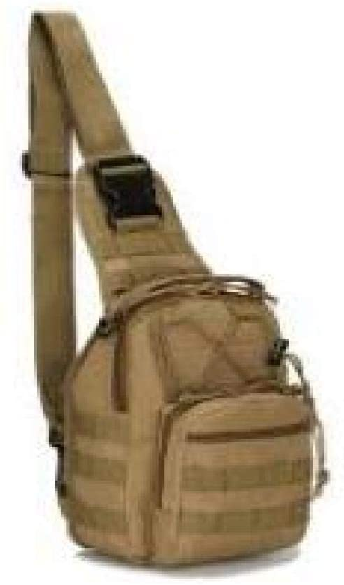 weizhang Outdoor Military Fishing Bag Waterproof Hiking Backpack Shoulder Tactical Camping Backpack Camouflage Fishing Bag Khaki
