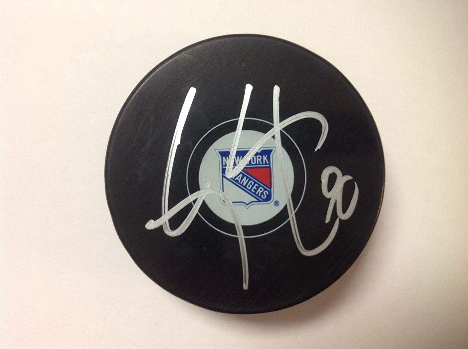 Autographed Cody McLeod Puck - NY a - Autographed NHL Pucks