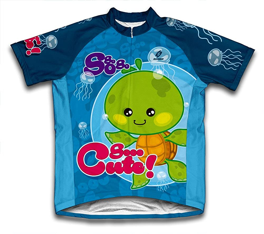 ScudoPro Cute Turtle Short Sleeve Cycling Jersey for Men - Size L