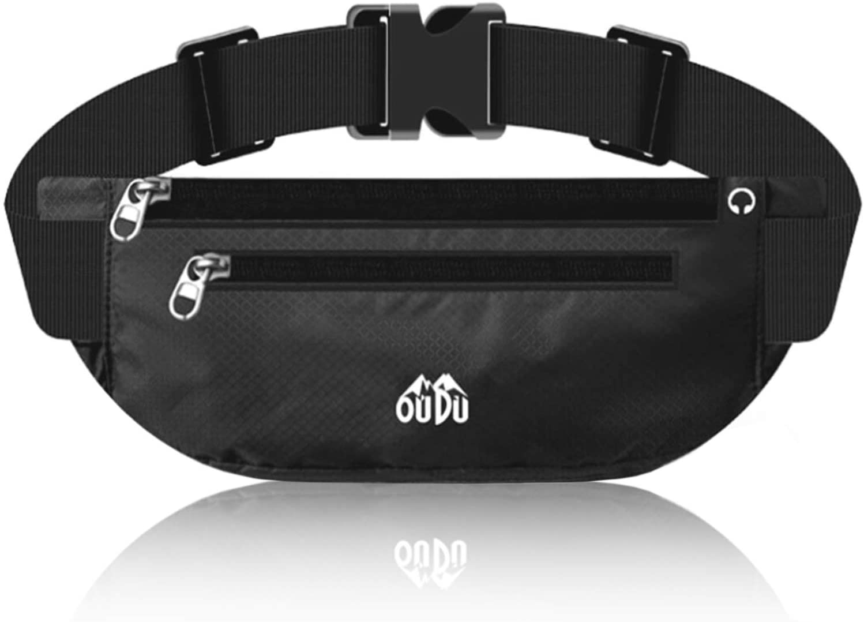 Fanny Pack for Men Women, Adjustable Waist Bag Pack Pouch Running Belt, Runners Belt Fitness Workout Belt Running Phone Holder Cashier's Box