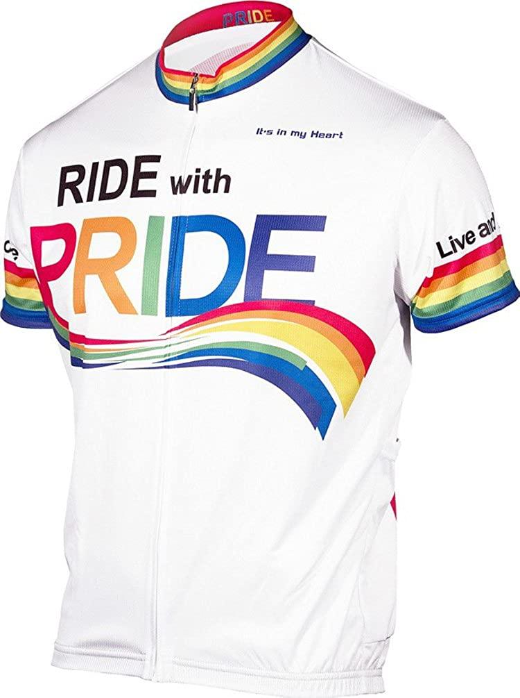It's in my Heart Men's Pride Jersey - Slimfit - Short Sleeves - Moisture Wicking Fabric